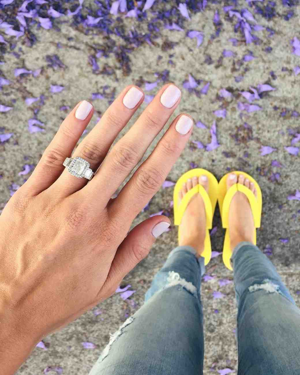 Lauren Bushnell's diamond engagement ring from the Bachelor