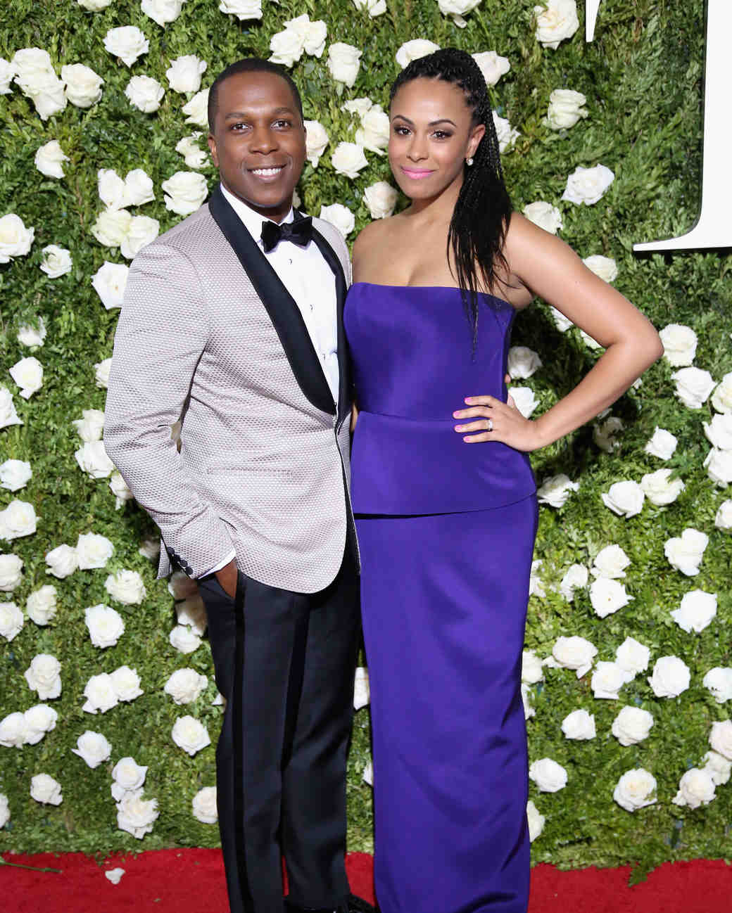 Leslie Odom Jr. and Nicolette Robinson at 2017 Tony Awards