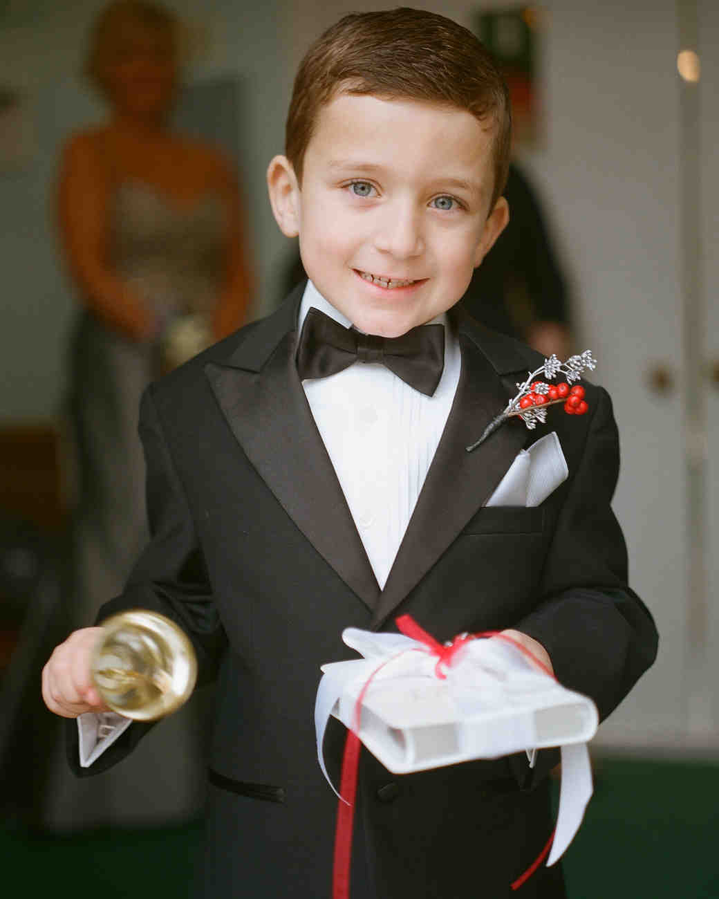 dapper ring bearers who completely stole our hearts martha stewart weddings - Wedding Ring Bearer
