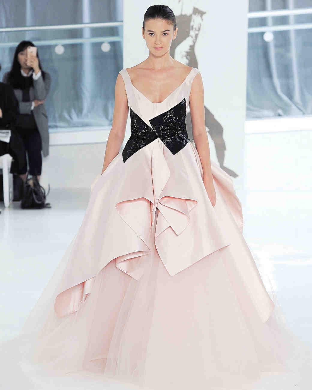 pink peter langner wedding dress spring 2018