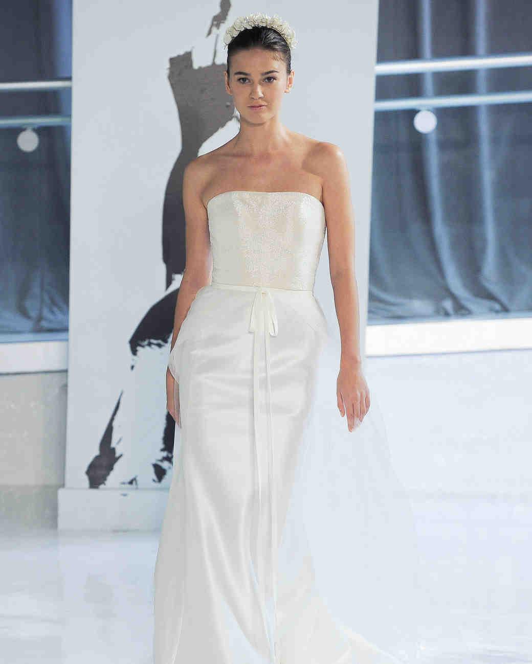 strapless peter langner wedding dress spring 2018