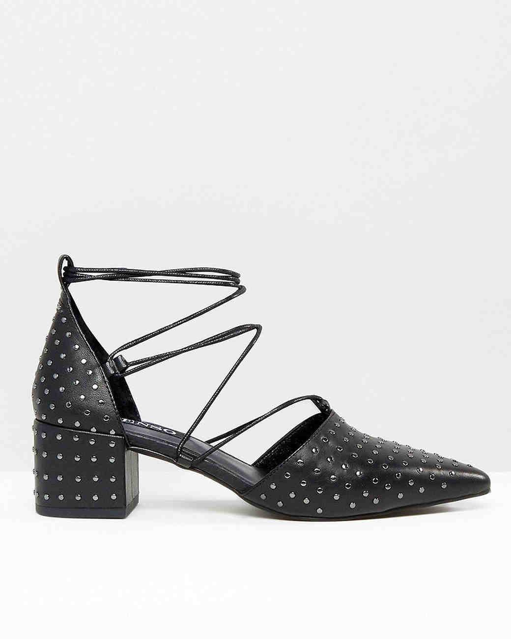 Shoes that won't sink asos studded block heels