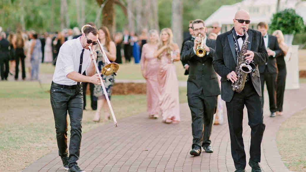 stefanie drew wedding parade band