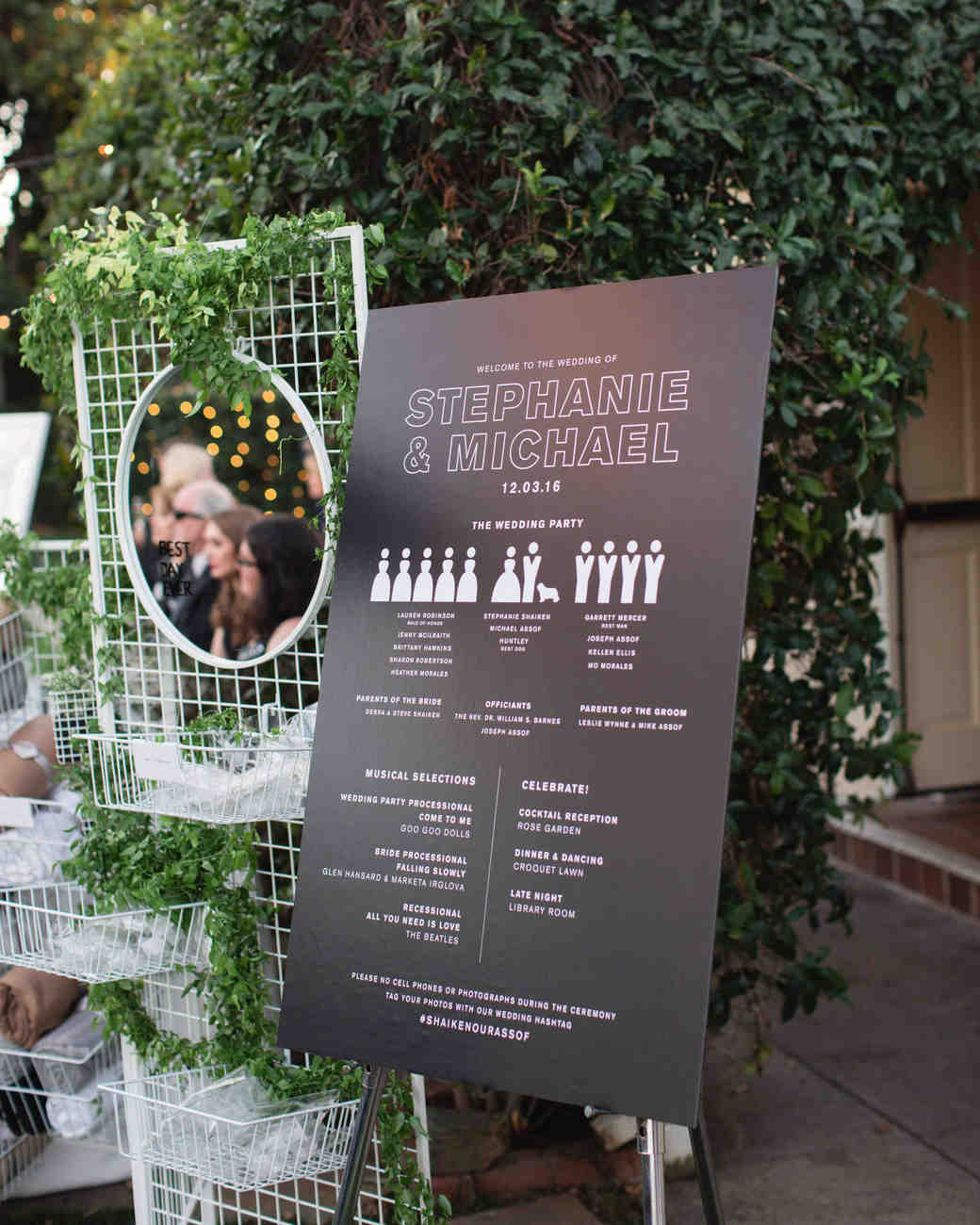 stephanie and michael wedding program