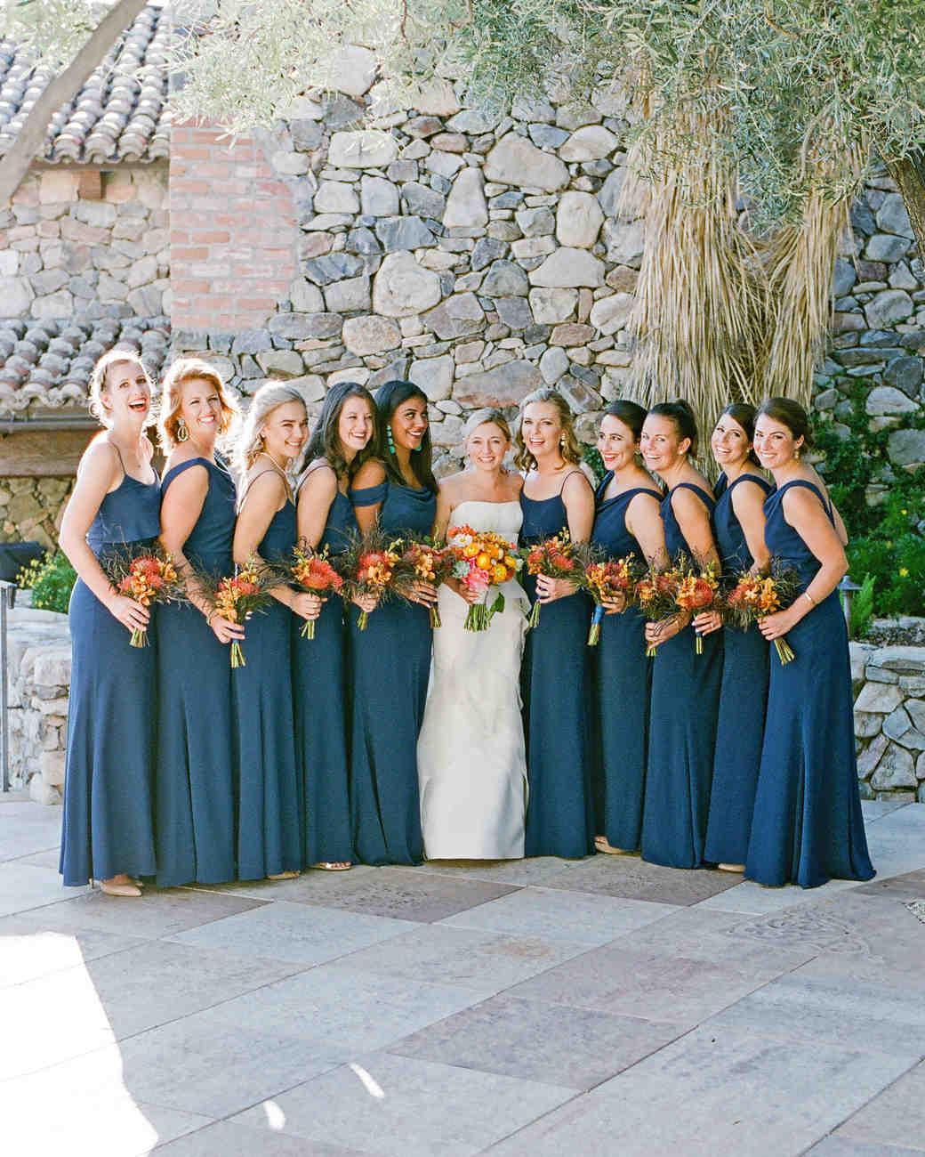 addie alex wedding bridesmaids navy