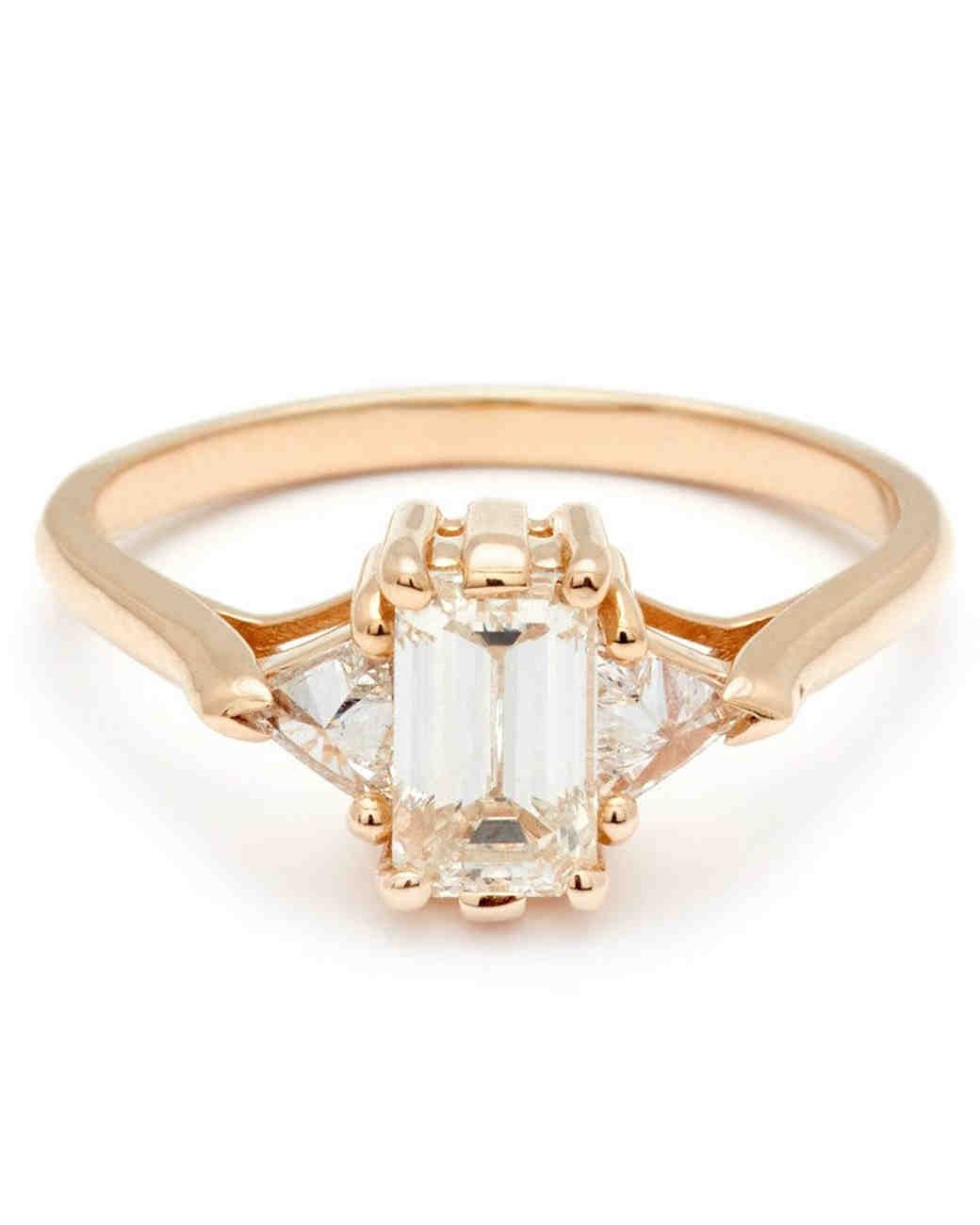 Anna Sheffield Emerald-Cut Engagement Ring