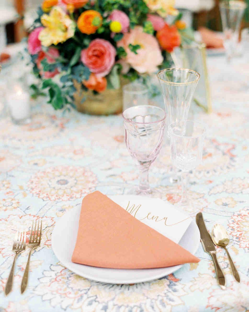 aubrey austin wedding place setting