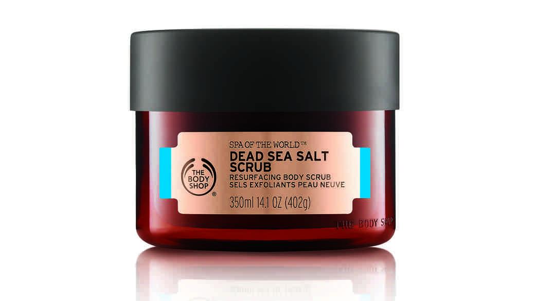 body shop spa of the world dead sea salt scrub