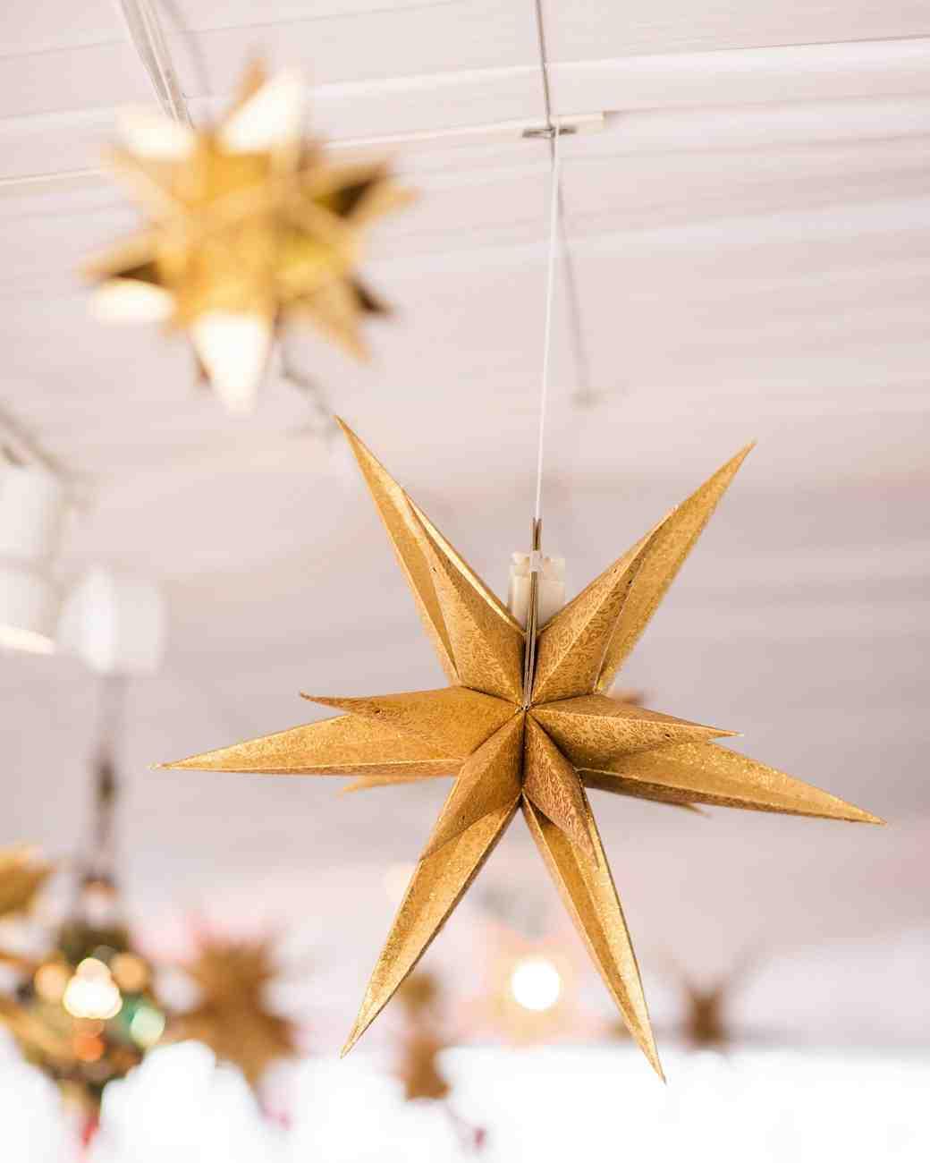 Hanging Moravian Star Wedding Decorations