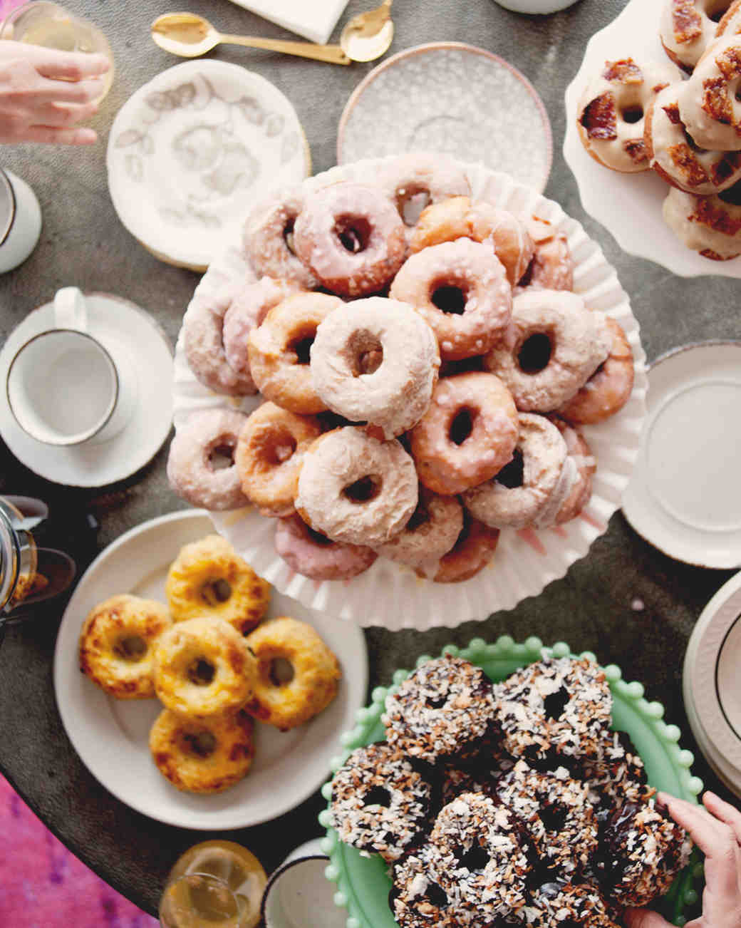 Donut Towers for a Bridal Shower Brunch