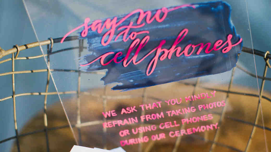 How to Keep Guests Off Their Phones at Your Wedding