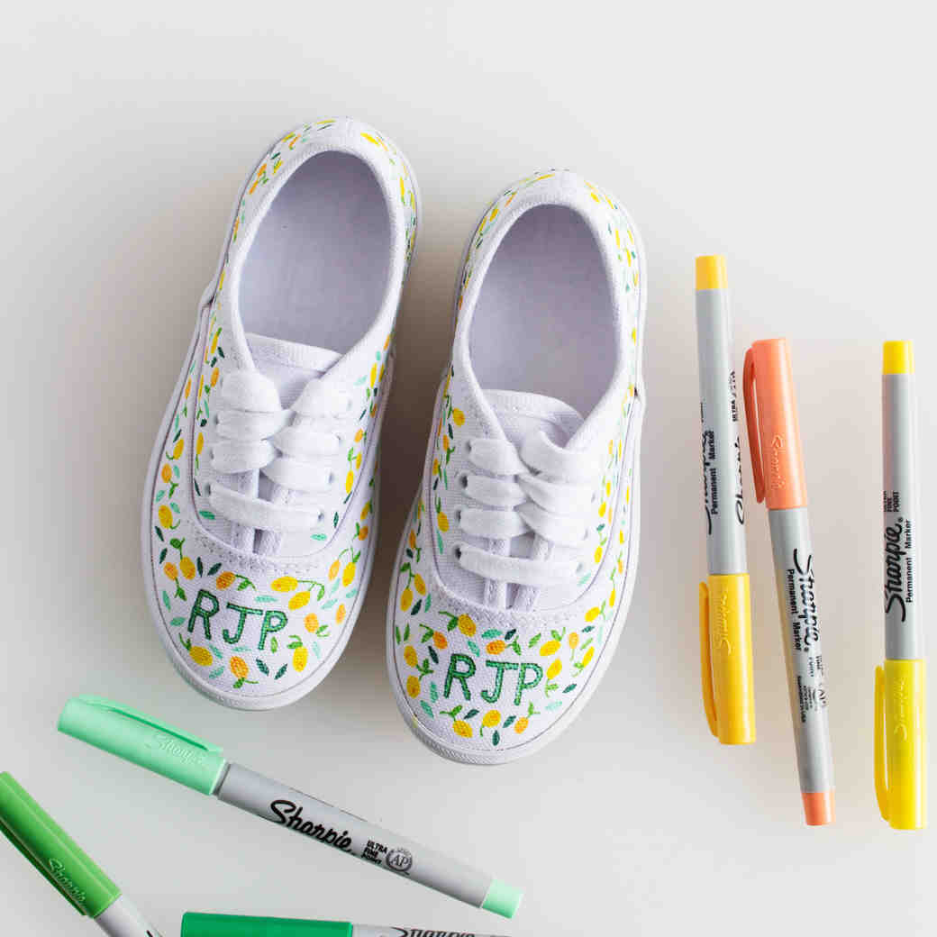 DIY Personalized Sneakers for Your Flower Girl
