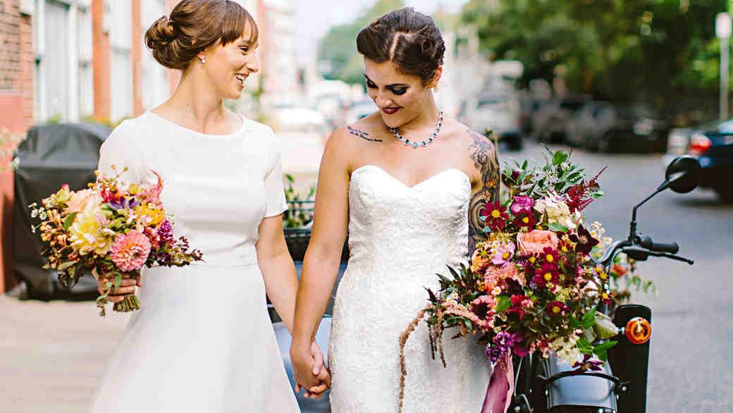 deborah meryl wedding couple
