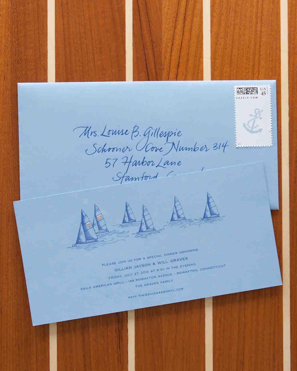 Nautical Wedding Invitations Perfect For An Oceanside Celebration | Martha  Stewart Weddings
