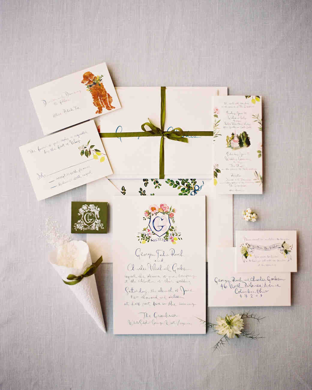 A Set of Wedding Invitations