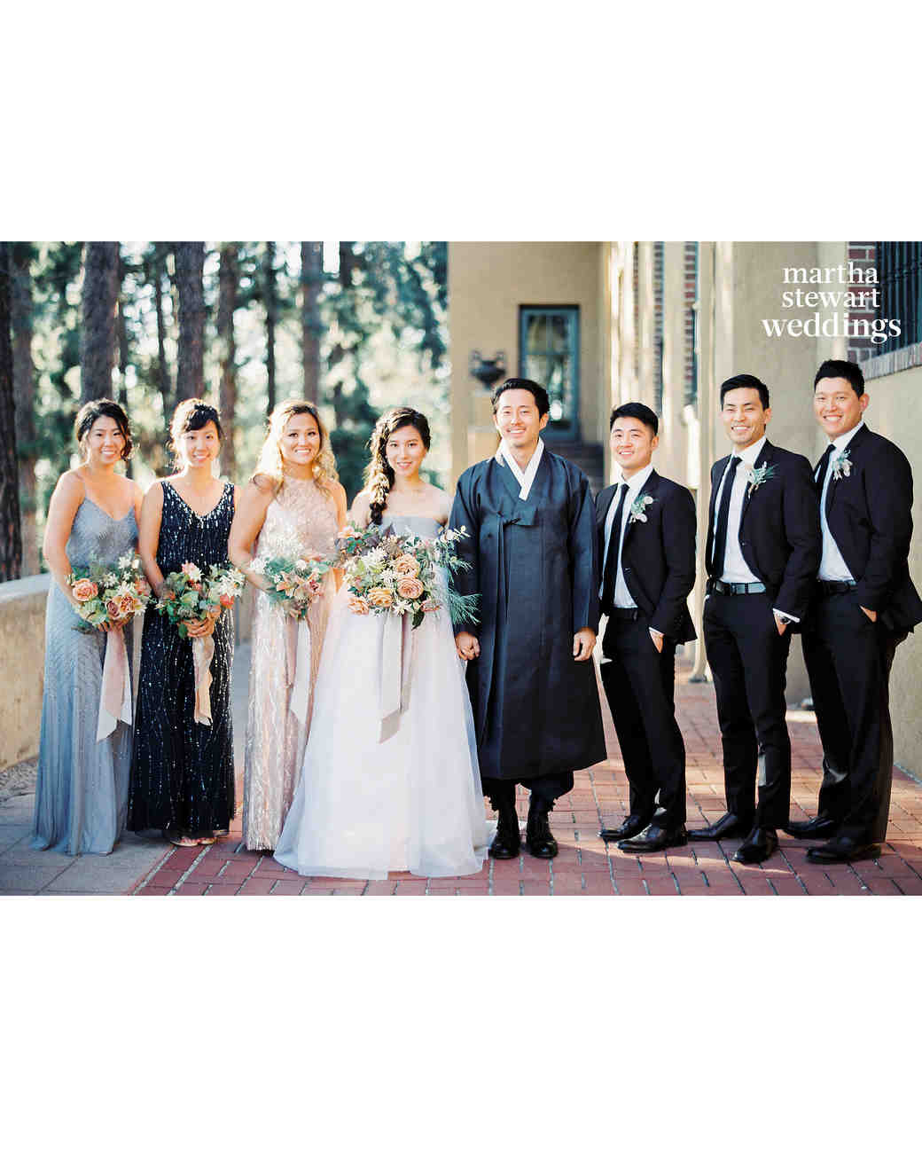 Steven Yeun Walking Dead Wedding, bridal party