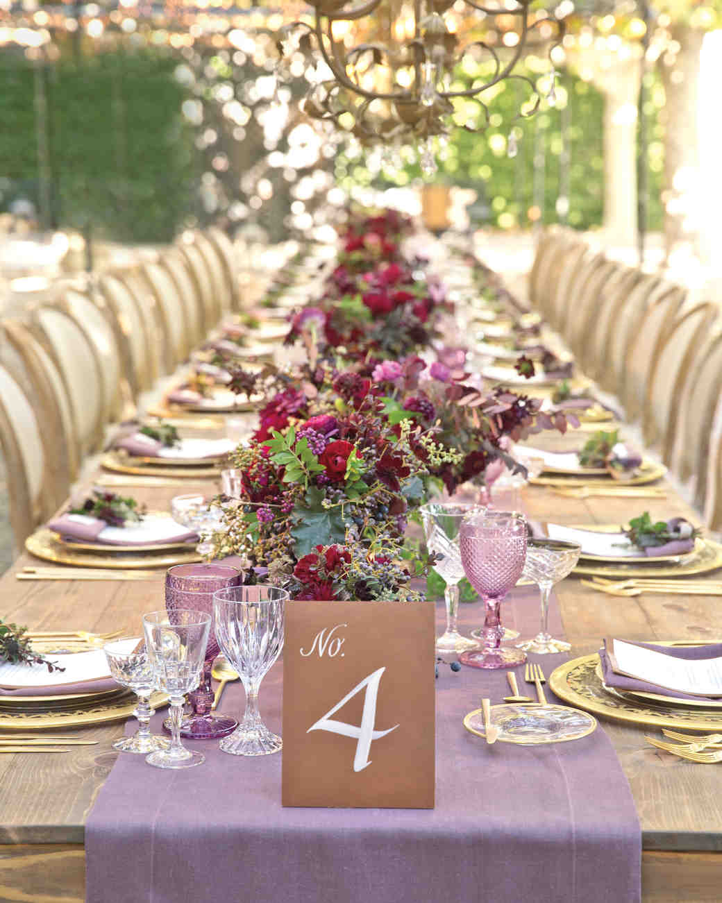 Long Fall Reception Table