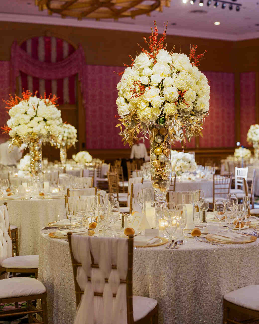white wedding centerpieces  martha stewart weddings, Beautiful flower