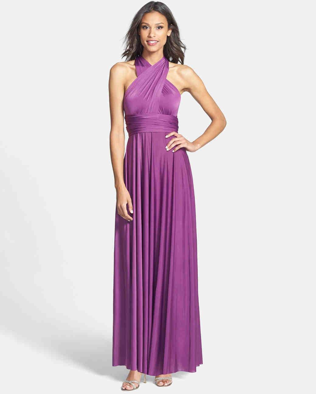 Wedding Purple Bridesmaid Dress purple bridesmaid dresses martha stewart weddings
