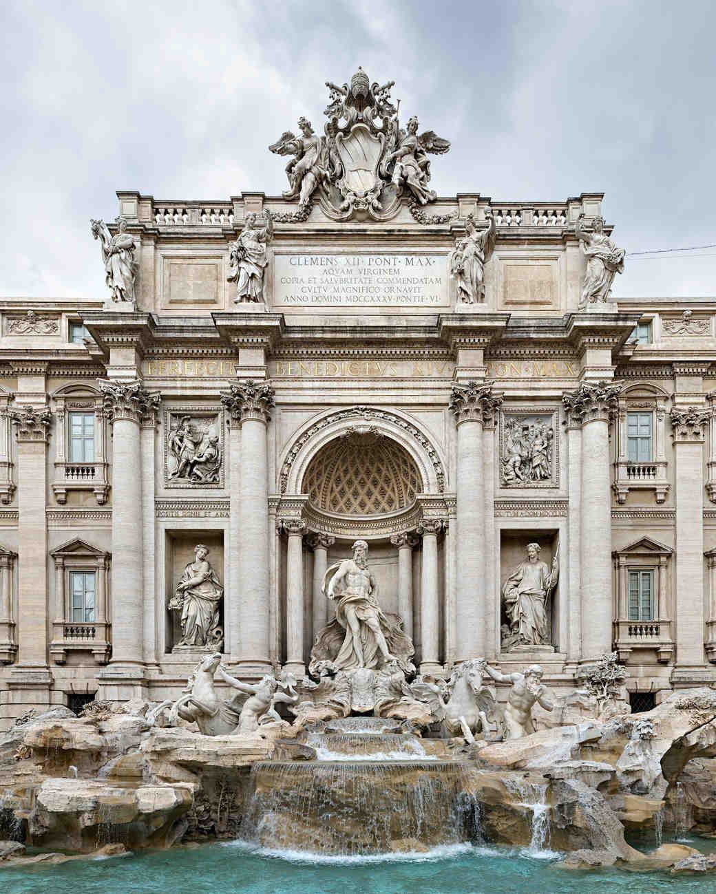 romantic destination italy rome trevi fountain