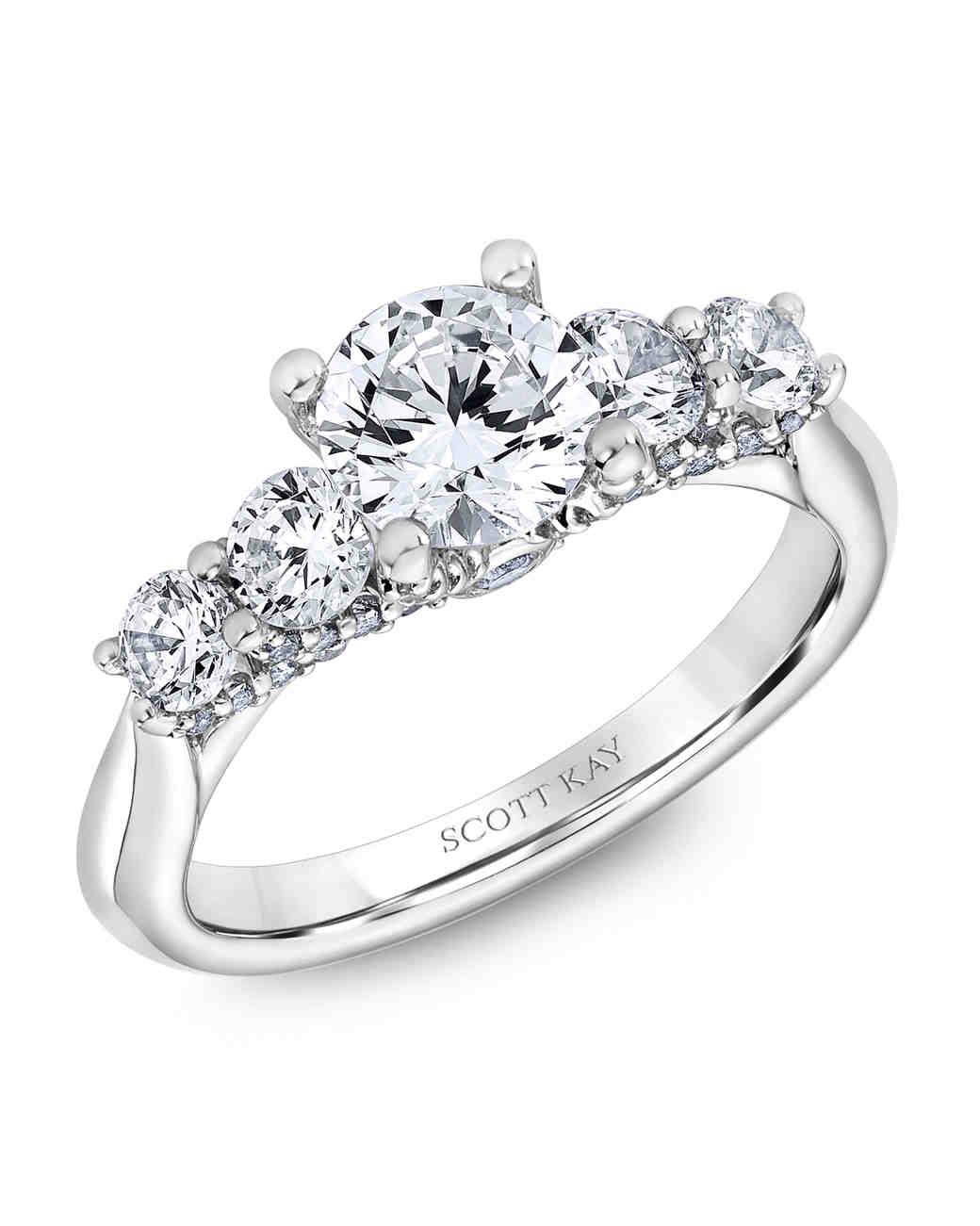 Scott Kay White Gold Engagement Ring