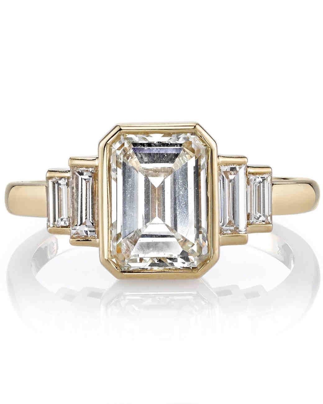 Emerald Cut Wedding Rings 010 - Emerald Cut Wedding Rings