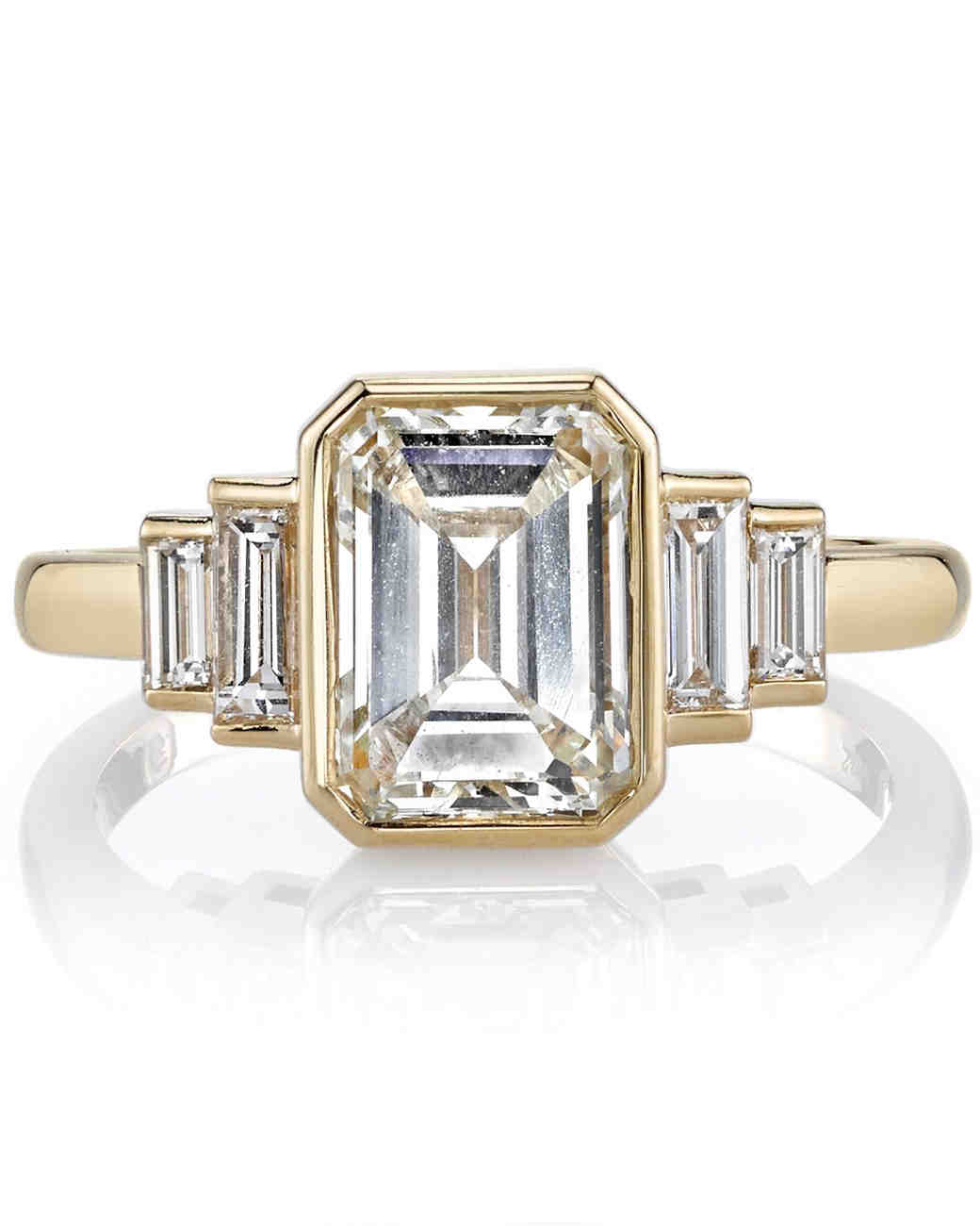 Single Stone Emeraldcut Engagement Ring