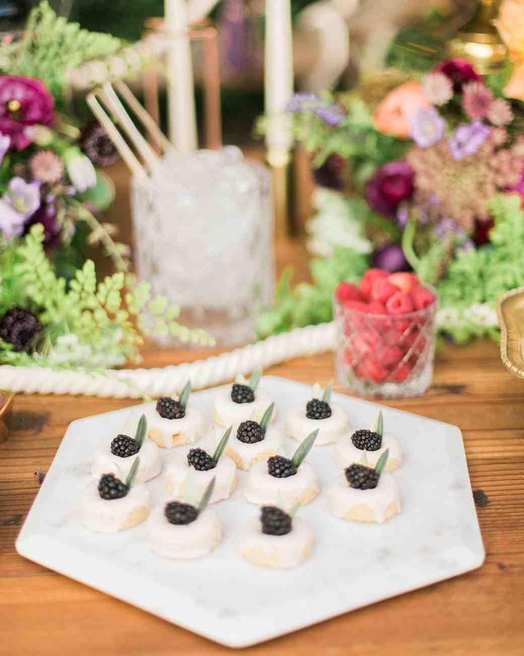 boho chic bachelorette party  blackberry cookies