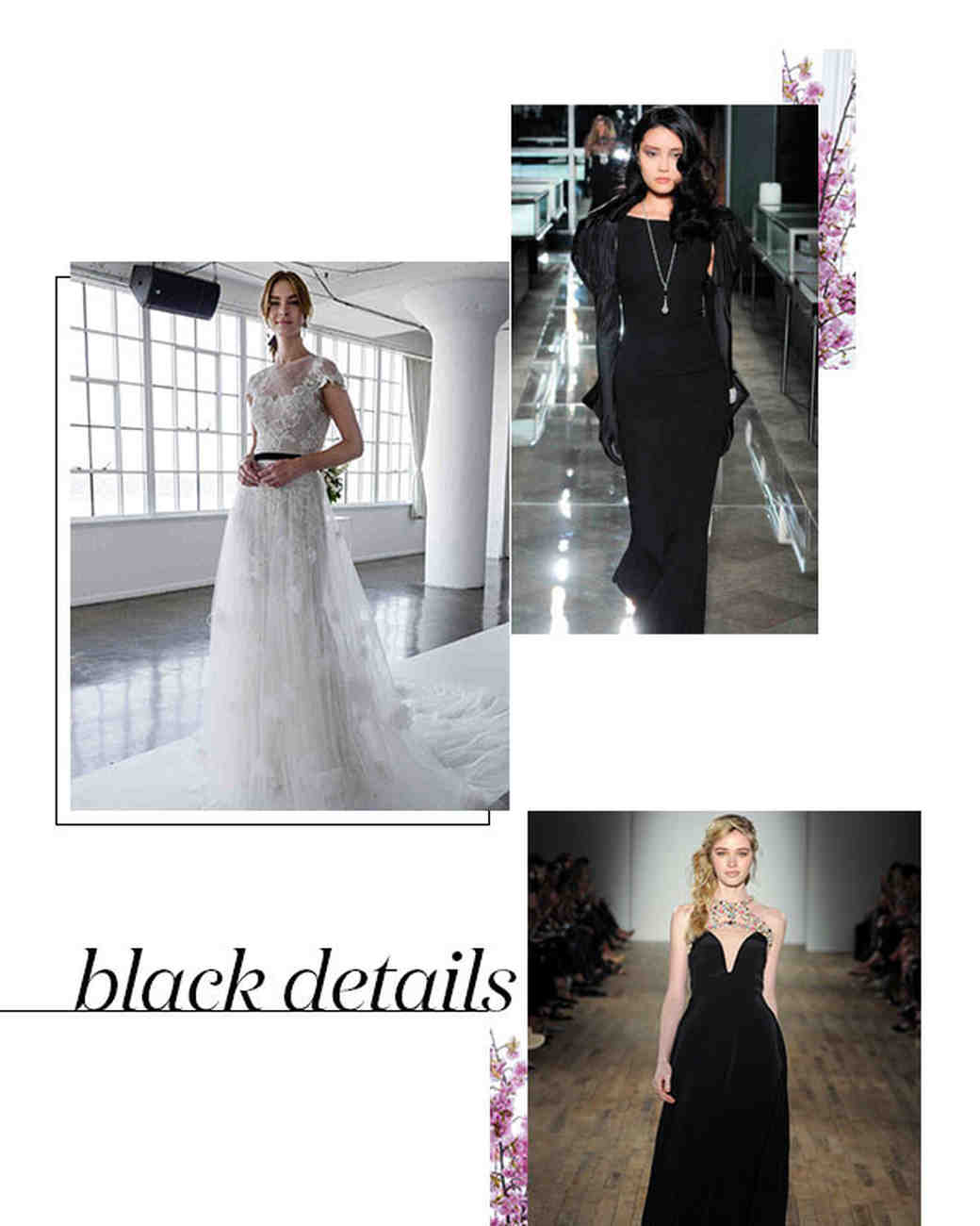 Spring 2018 Bridal Fashion Week Black Details Trend
