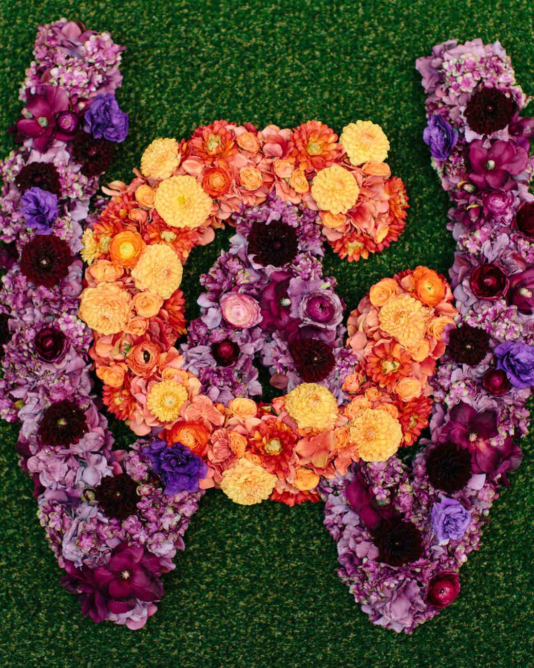 wedding floral monogram