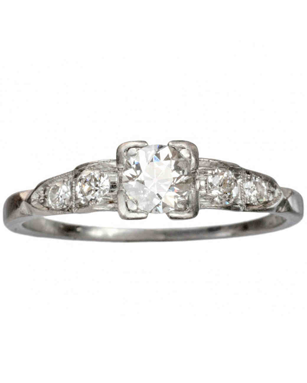 Erie Basin 1930s antique engagement ring