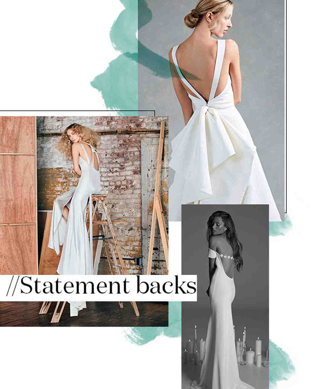 Fall 2017 Wedding Dress Trend: Statement Backs