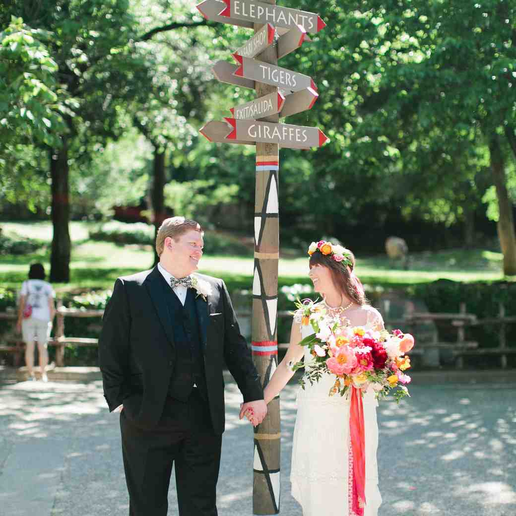 A Colorfully Whimsical Wedding at a Texas Zoo