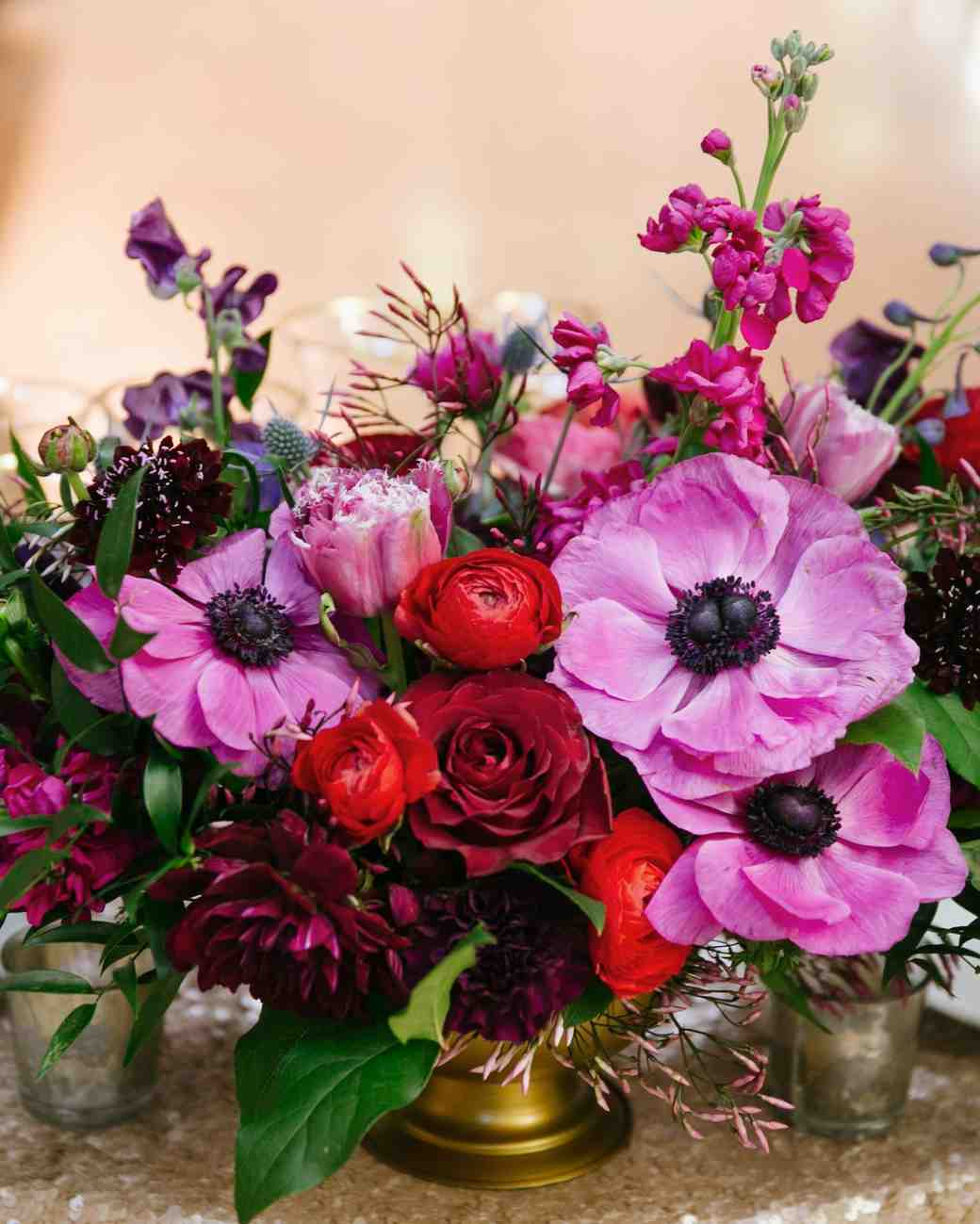 jewel toned centerpiece