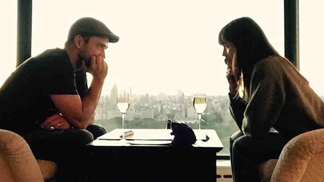 Justin Timberlake and Jessica Biel Playing Scrabble