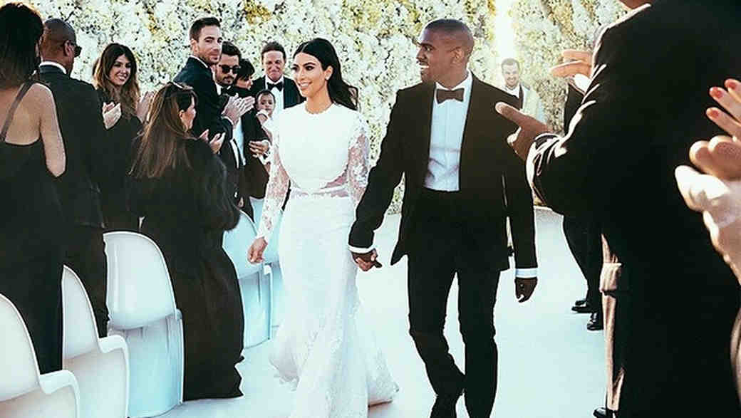 Kim Kardashian West Shares Wedding Throwback Photos in Honor of Her Third Anniversary