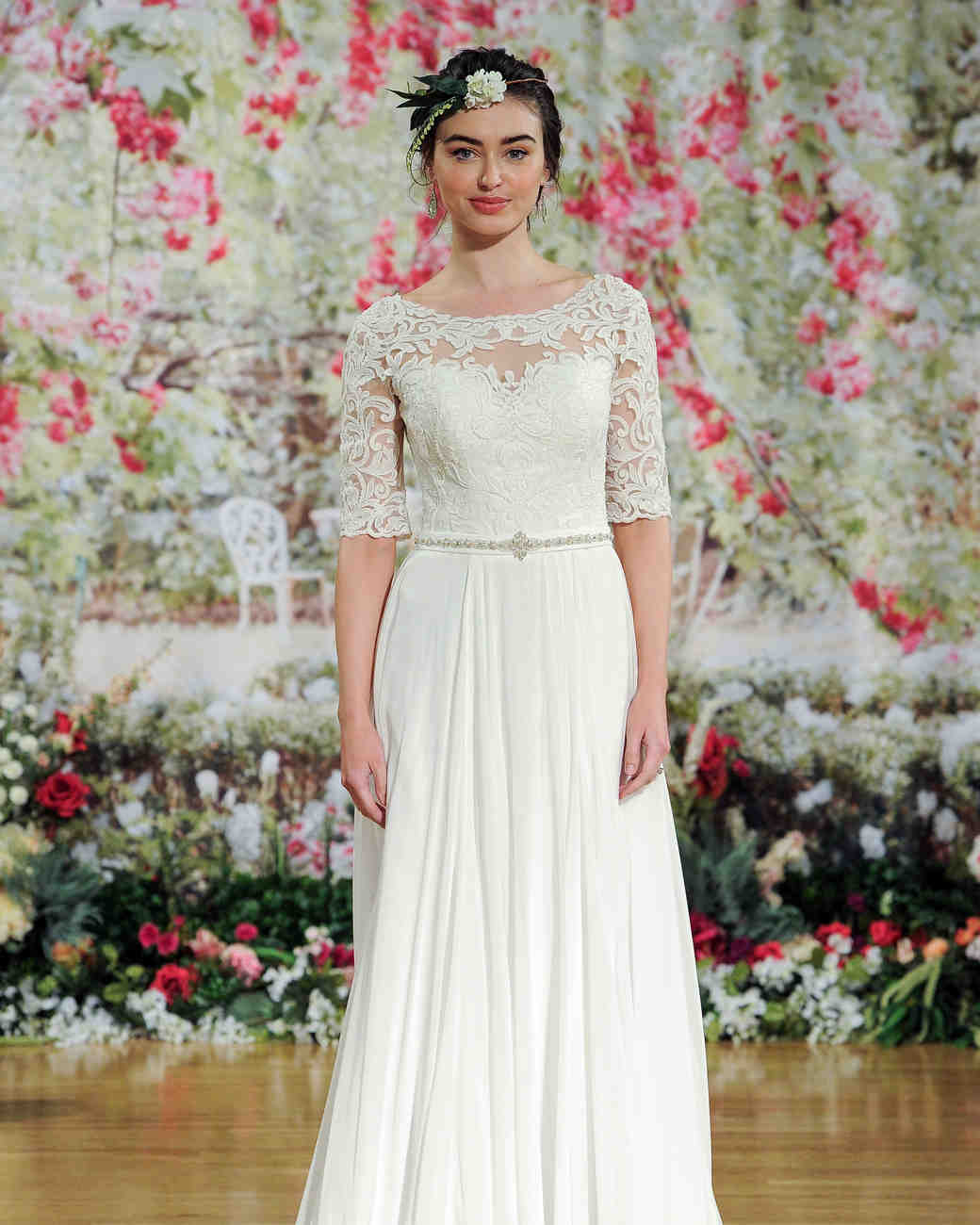 Maggie Sottero Fall 2017 Wedding Dress with Lace Top and Belt