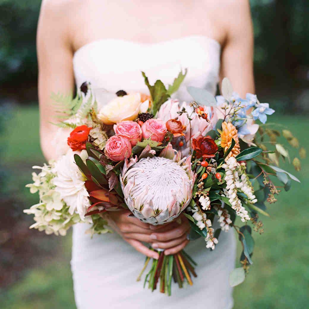 15 Protea Wedding Bouquets and Arrangements