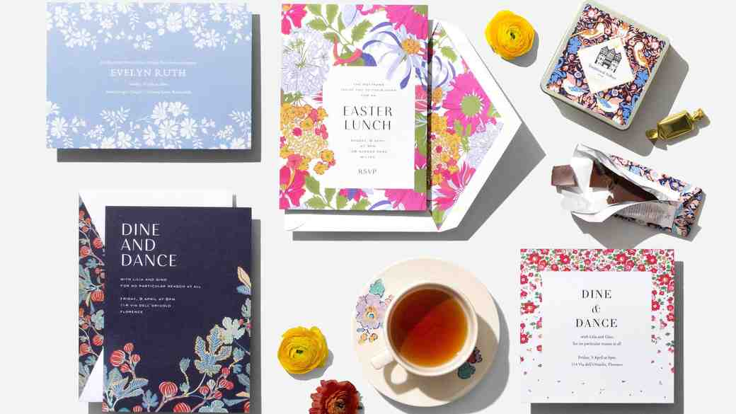 First Look: Check Out Paperless Post's New Wedding Collection from Liberty London!