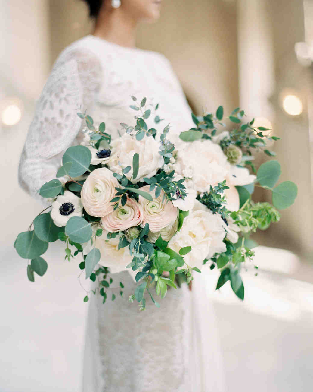 muted ranunculus bouquet