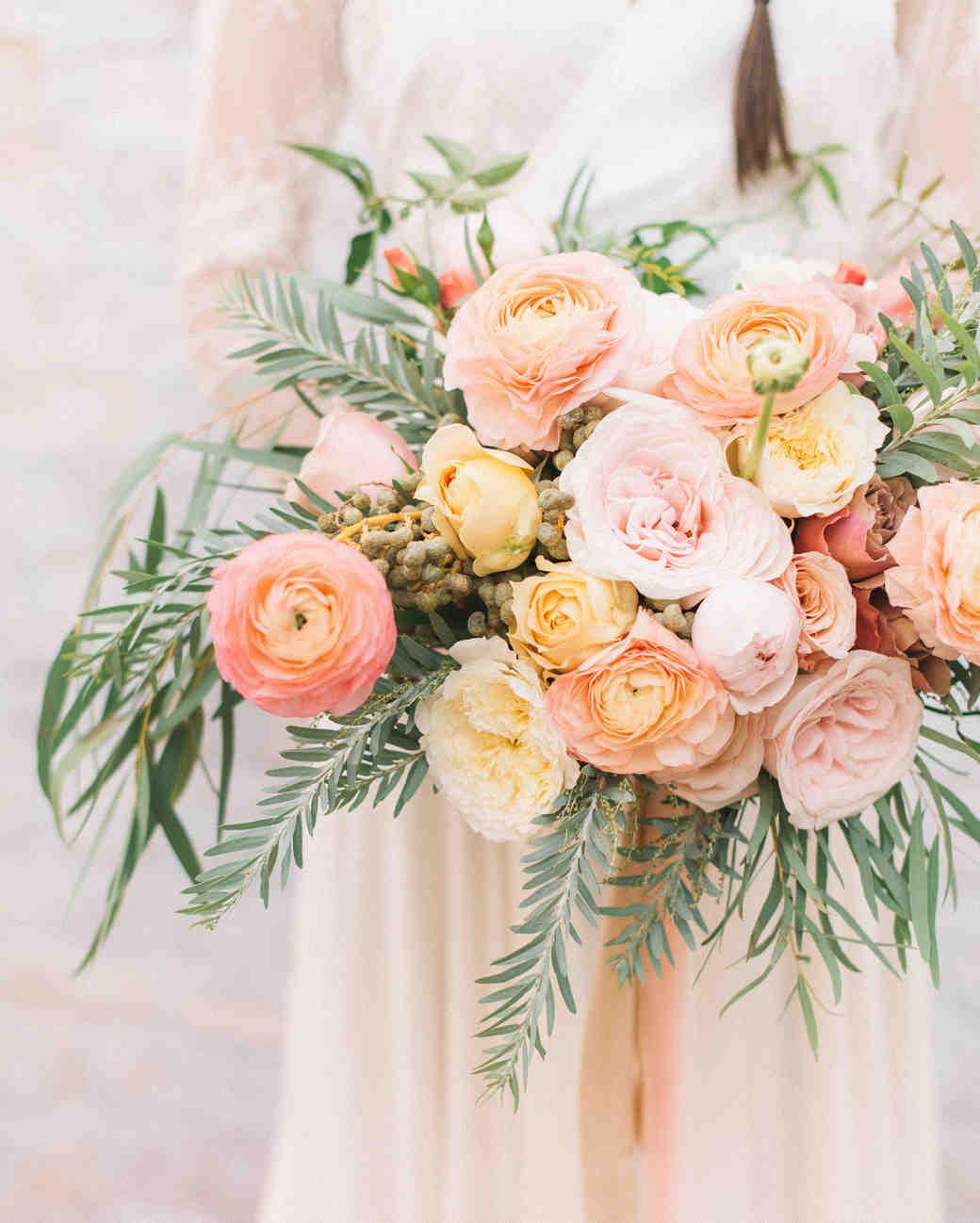 Pink and Orange Ranunculus Bouquet