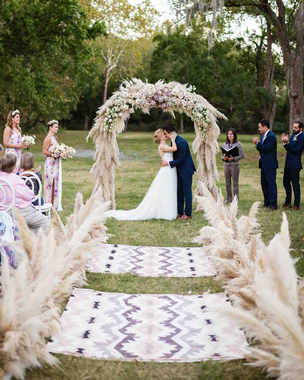 The Ceremony Decor: A Luxe Bohemian Wedding In Texas