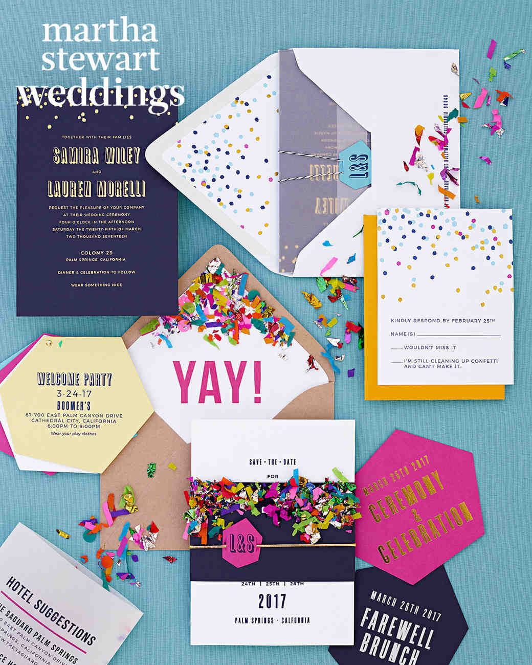 samira wiley lauren morelli wedding invite