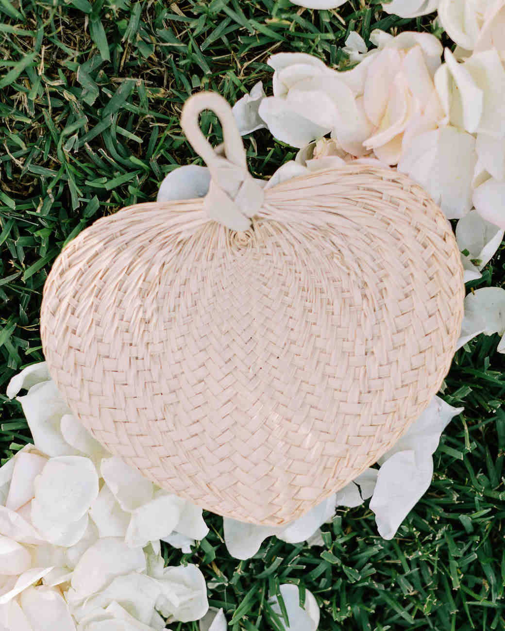 Beach wedding woven fan wedding favors