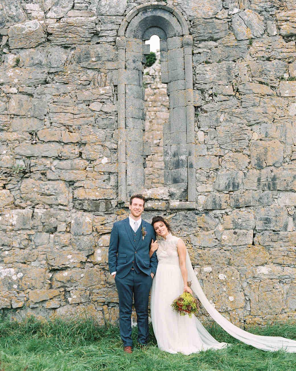 couple portrait chapel wall
