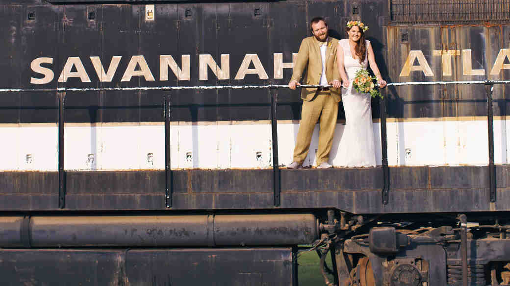 unique wedding location train station