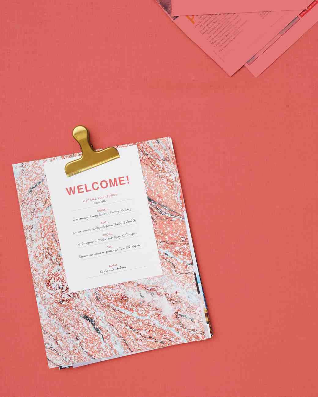 DIY Personalized Wedding Welcome Packet