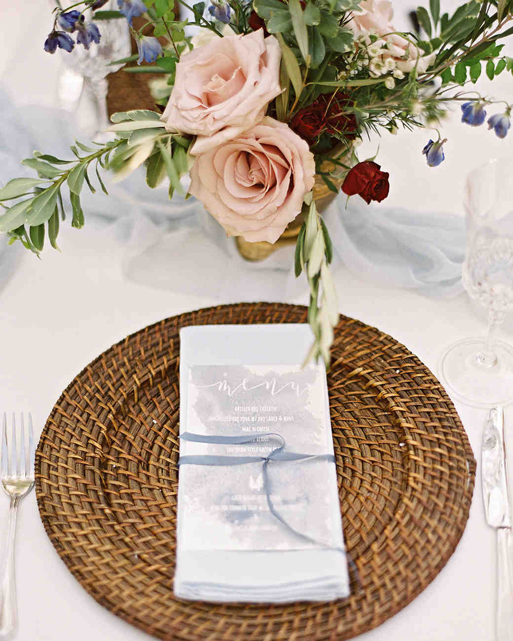 ashley and justin wedding table place setting