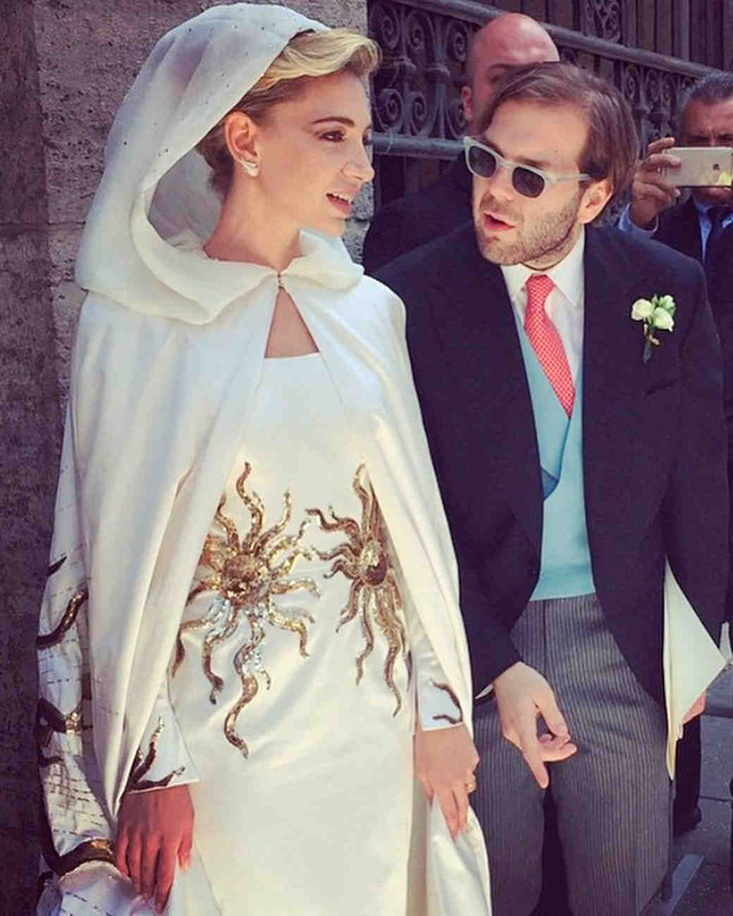Celebrity Brides Who Wore Unconventional Colors On Their