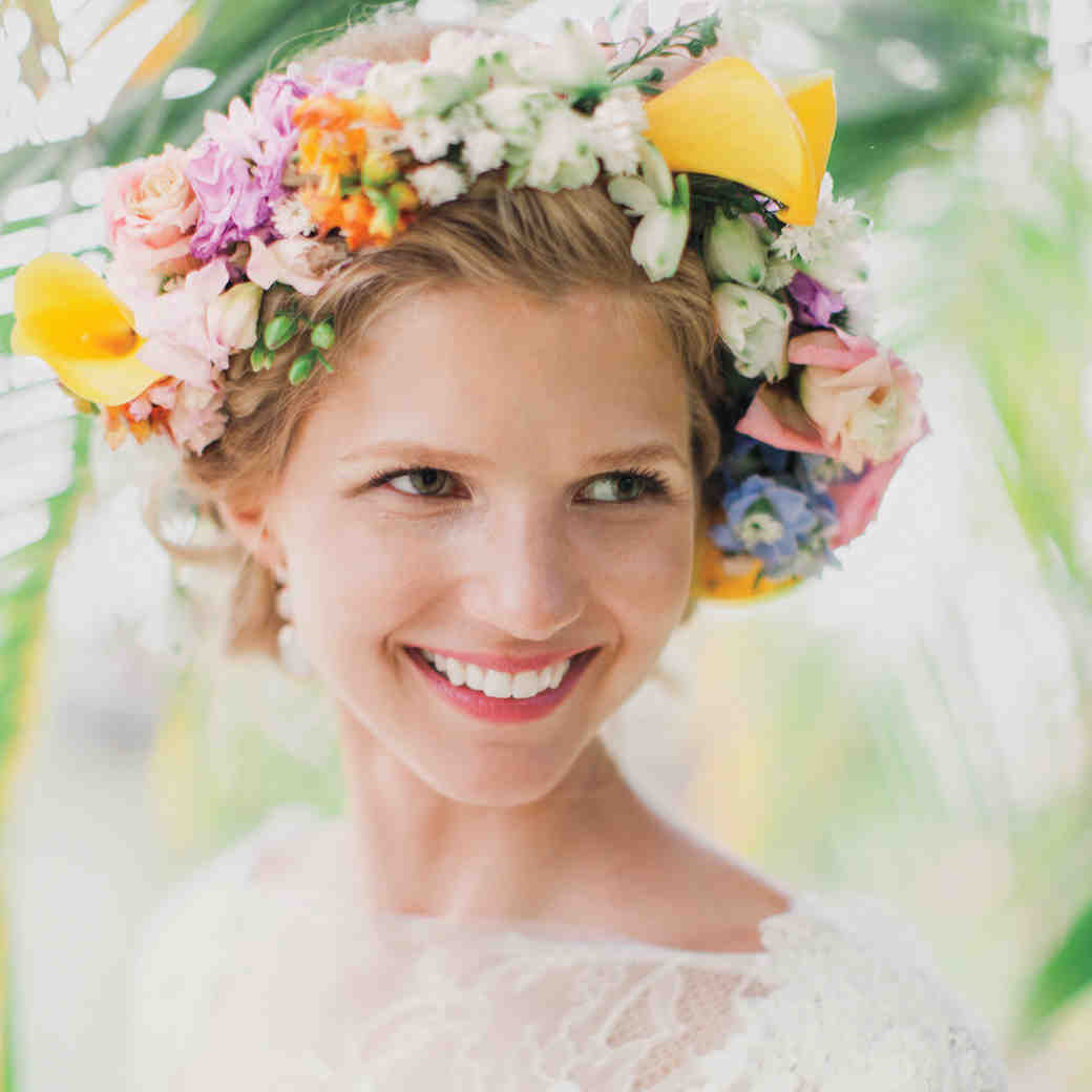 Flower Crown Ideas to Top Off Your Wedding Hairstyle